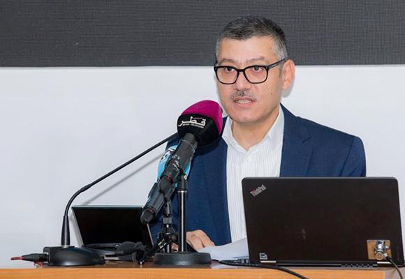 الدكتور مروان قبلان متحدثا في الجلسة الافتتاحية للمؤتمر