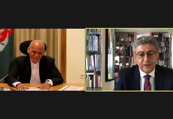 الدكتور سلطان بركات يرحب بفخامة الرئيس أشرف غني