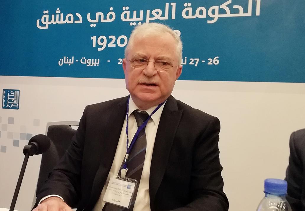 خالد زيادة مُرحّبًا بالحضور