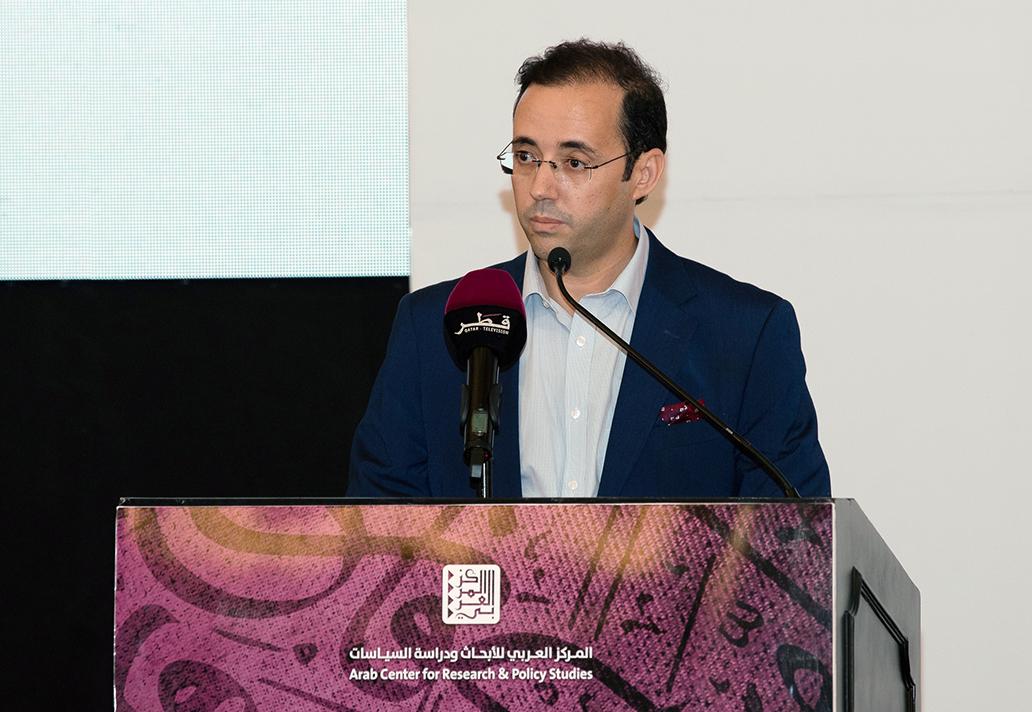مراد دياني مفتتحًا حفل إعلان الفائزين بالجائزة العربية للعلوم الاجتماعية والإنسانية